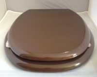 Duschy MDF Chocolate BrownToilet Seat with Chrome finished hinge