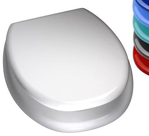 Duschy MDF Toilet Seat with Chrome finished hinge