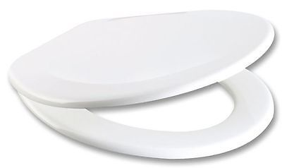 RTS White Duroplast Soft Close Toilet Seat w/ One Button Release