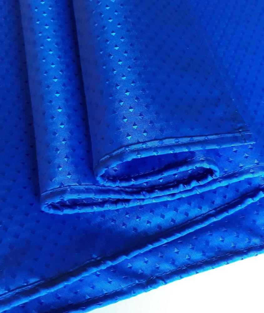 RTS  Blue Diamond Fabric Weighted Shower Curtain - multiple sizes