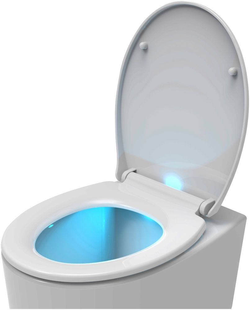 Euroshowers PP ONE LED White Soft Close Toilet Seat
