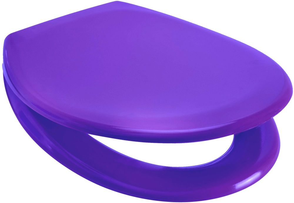RTS Purple Duroplast Soft Close Toilet Seat w/ One Button Release