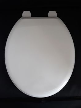 White Technoplast Toilet Seat - nylon fittings