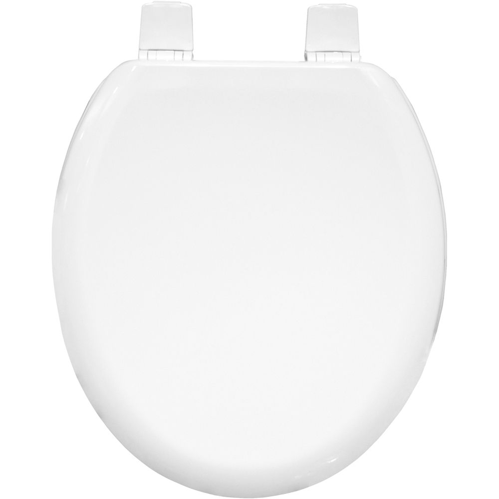 Carrara and Matta Moulded  Wood Toilet Seat - White