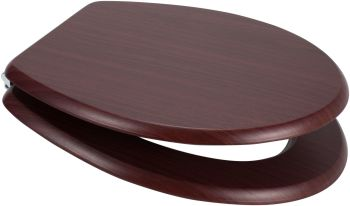 Mahogany (Red) Moulded Wood Toilet Seat