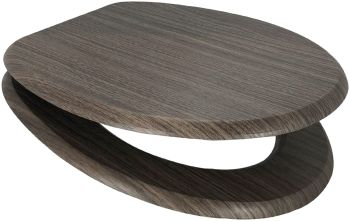 Dark Beech Moulded Wood Toilet Seat