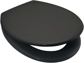 RTS Anthracite Duroplast Soft Close Toilet Seat w/ One Button Release