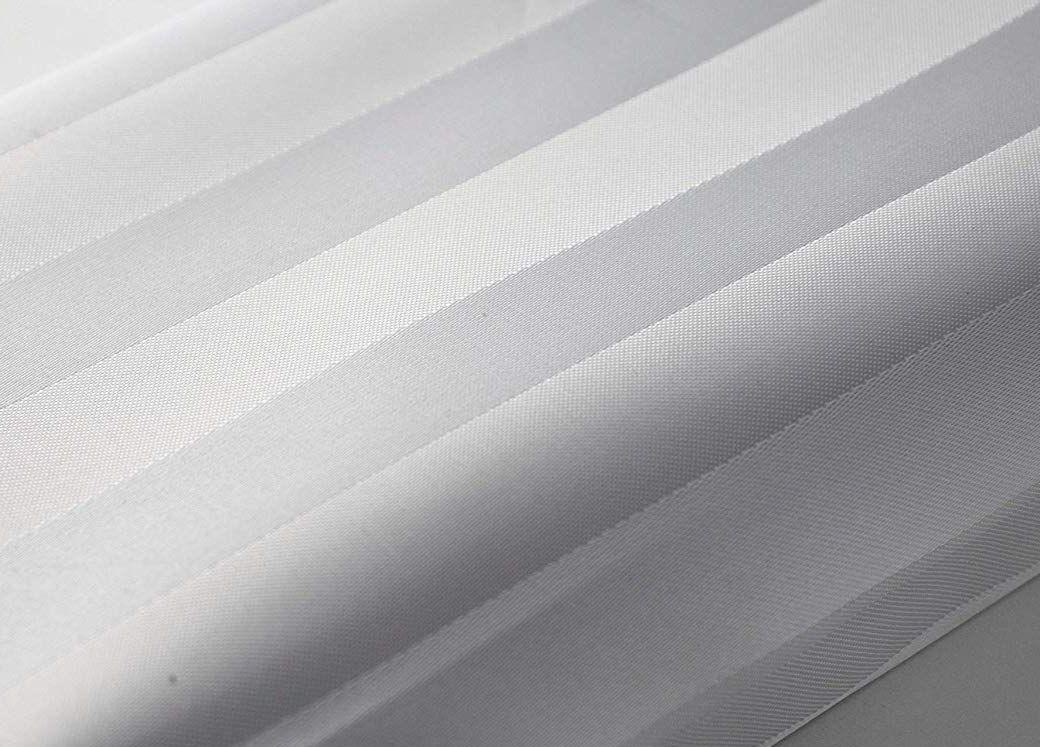 SatinStripe White Shower Curtain