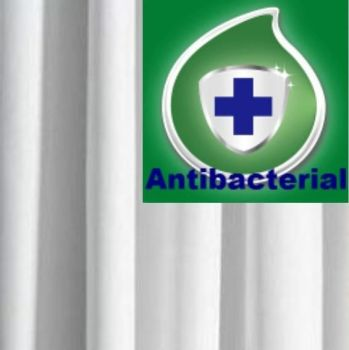 Shower Curtain -AntiBacterial White All Sizes by Euroshowers