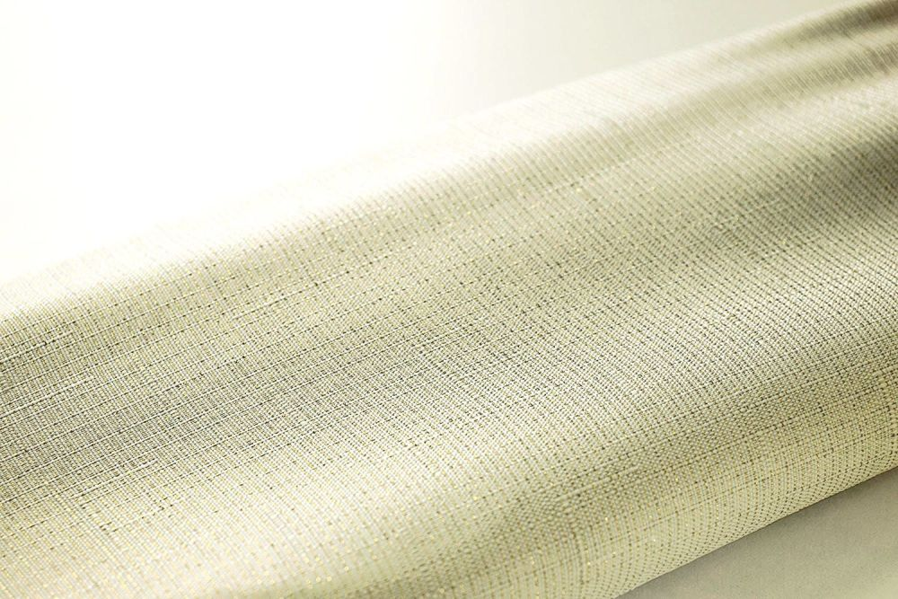 Gold Thread Fabric Shimmering Shower Curtain by Euroshowers