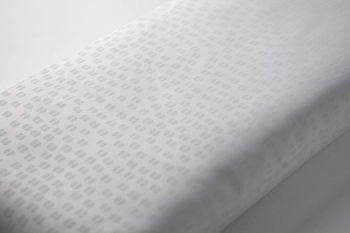 Euroshowers White Embossed Fabric Shower Curtain
