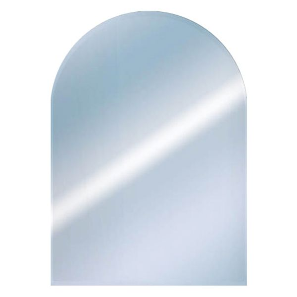 Euroshowers Round Top Bevelled Mirror 50x40cm
