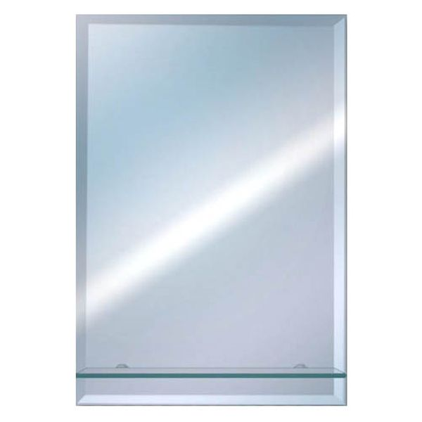 Euroshowers Rectangle Bevelled Mirror 50x40cm with Glass Shelf