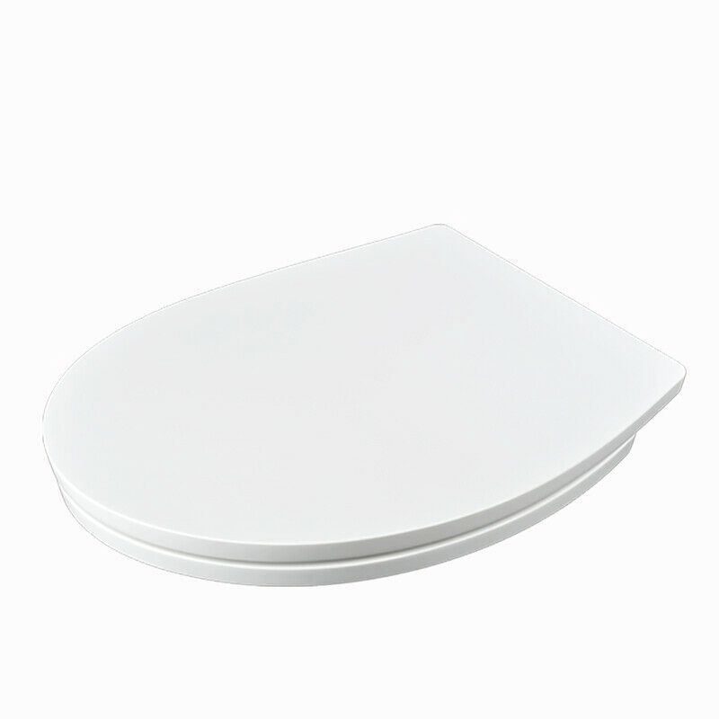 The London - Wide White Oval Toilet Seat by Family Seat