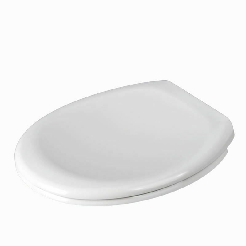 The York - Soft Close White Standard Oval Toilet Seat - by Family Seat