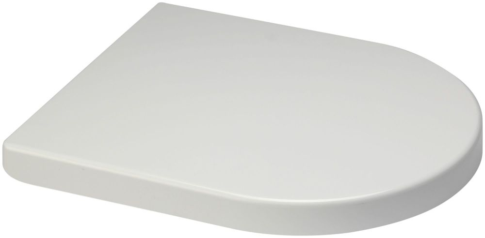 Euroshowers Short D One Range Toilet Seat in white - OPEN BOX ITEM