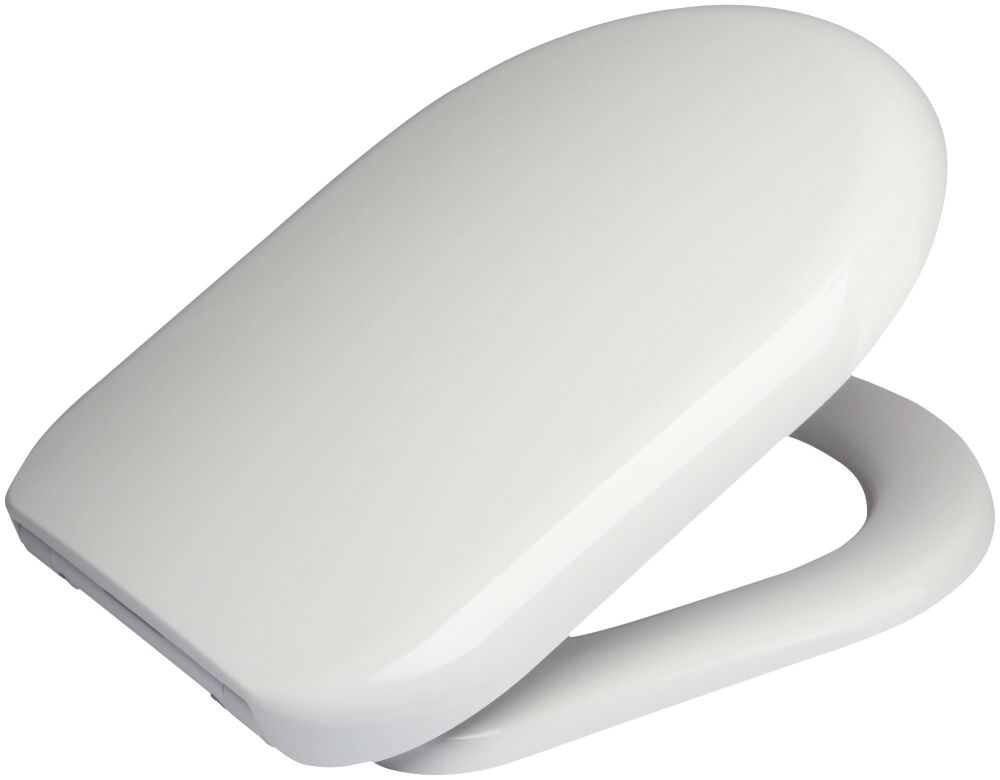 Euroshowers  D One Range Toilet Seat in white - OPEN BOX ITEM