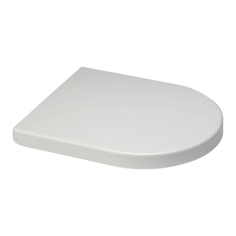 Short D WIDE 230mm HINGE White Toilet Seat