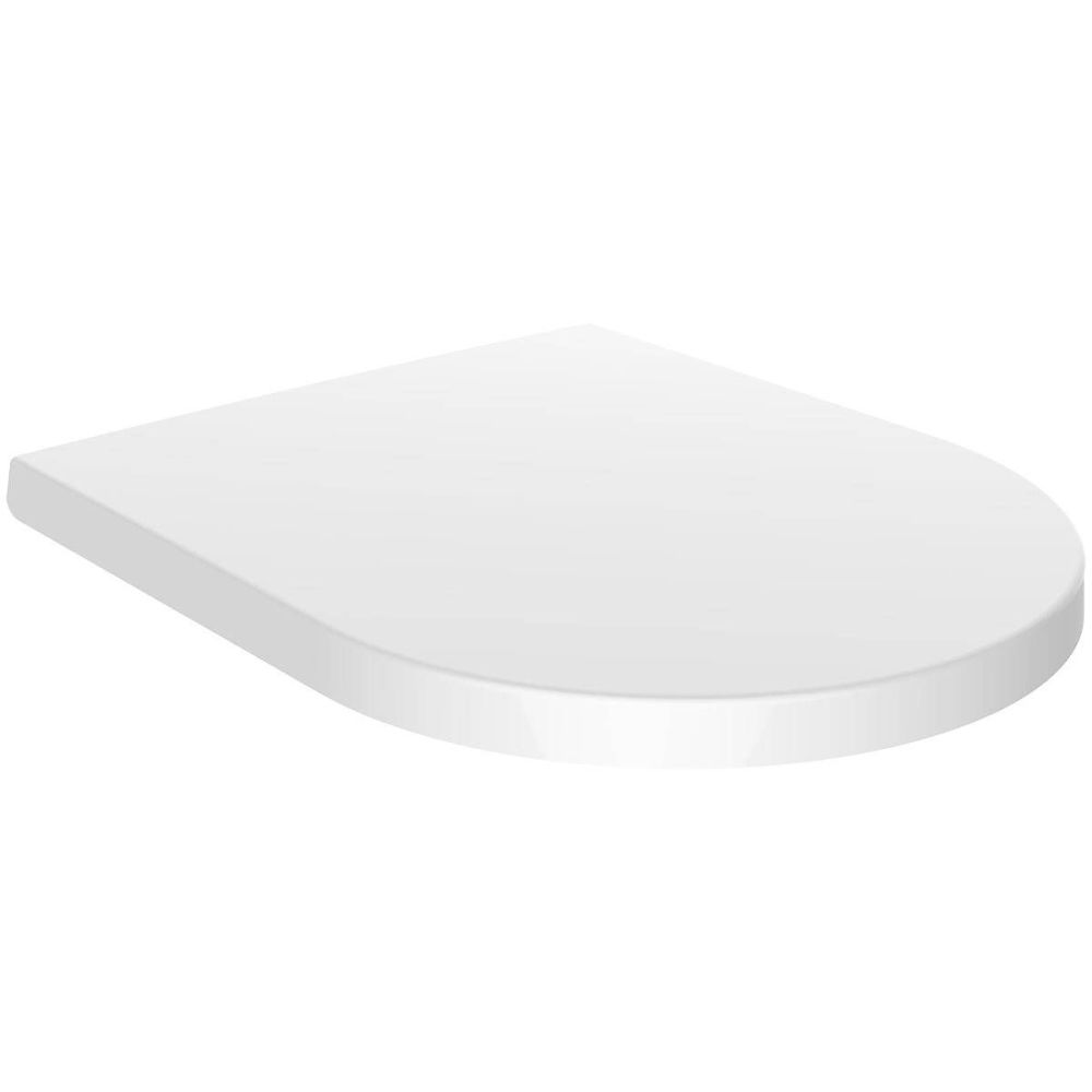 Euroshowers Middle D Style  toilet seat in Duroplast White