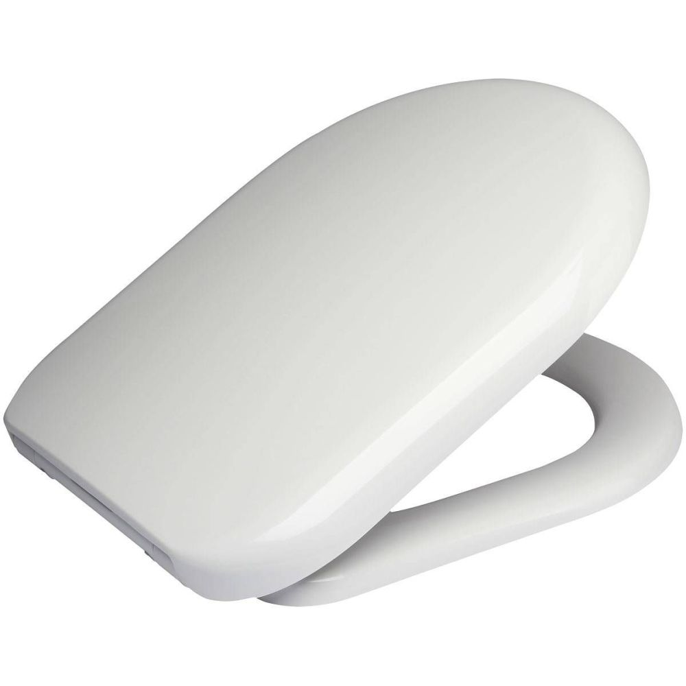 Euroshowers  D One Range Toilet Seat in white