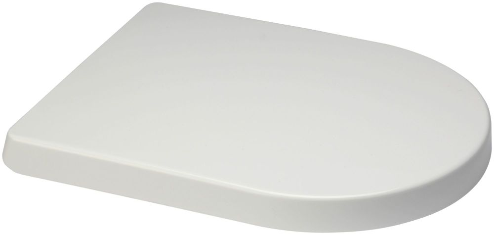 Euroshowers  Long D One Range Toilet Seat in white - OPEN BOX ITEM