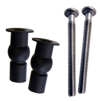 Well Nuts / Top Fix Grommet Pack (Black) SP2