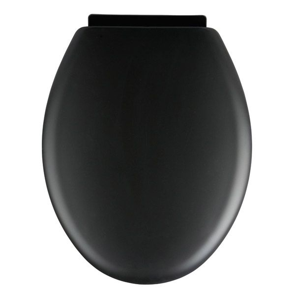 Wenko Forano 20596100 Black Soft Touch Toilet Seat