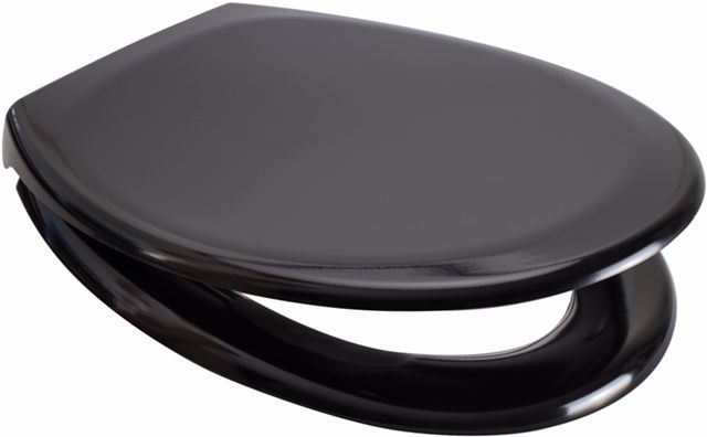 Euroshowers Black One Button Release Slow Close Toilet Seats