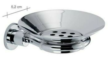 Carrara & Matta Chrome Finished Stainless Steel Soap Dish - HD Line