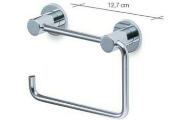 Carrara & Matta Chrome Finished Stainless Steel Towel Ring - HD Line