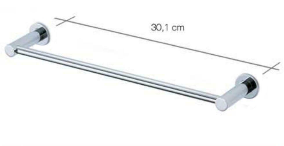 Carrara & Matta Chrome Finished Stainless Steel 30cm Towel Rail - HD Line