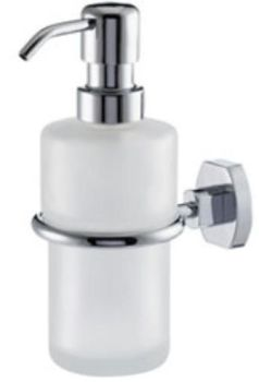 Carrara & Matta Chrome Plated Brass / Satin Glass Soap Dispenser - Copenhagen