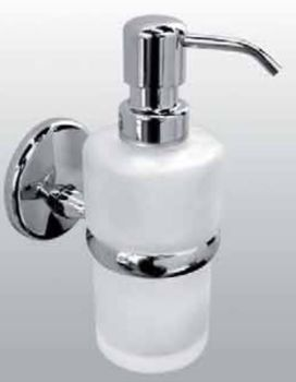 Carrara & Matta Chrome Plated Brass / Satin Glass Soap Dispenser - Bravo Suite