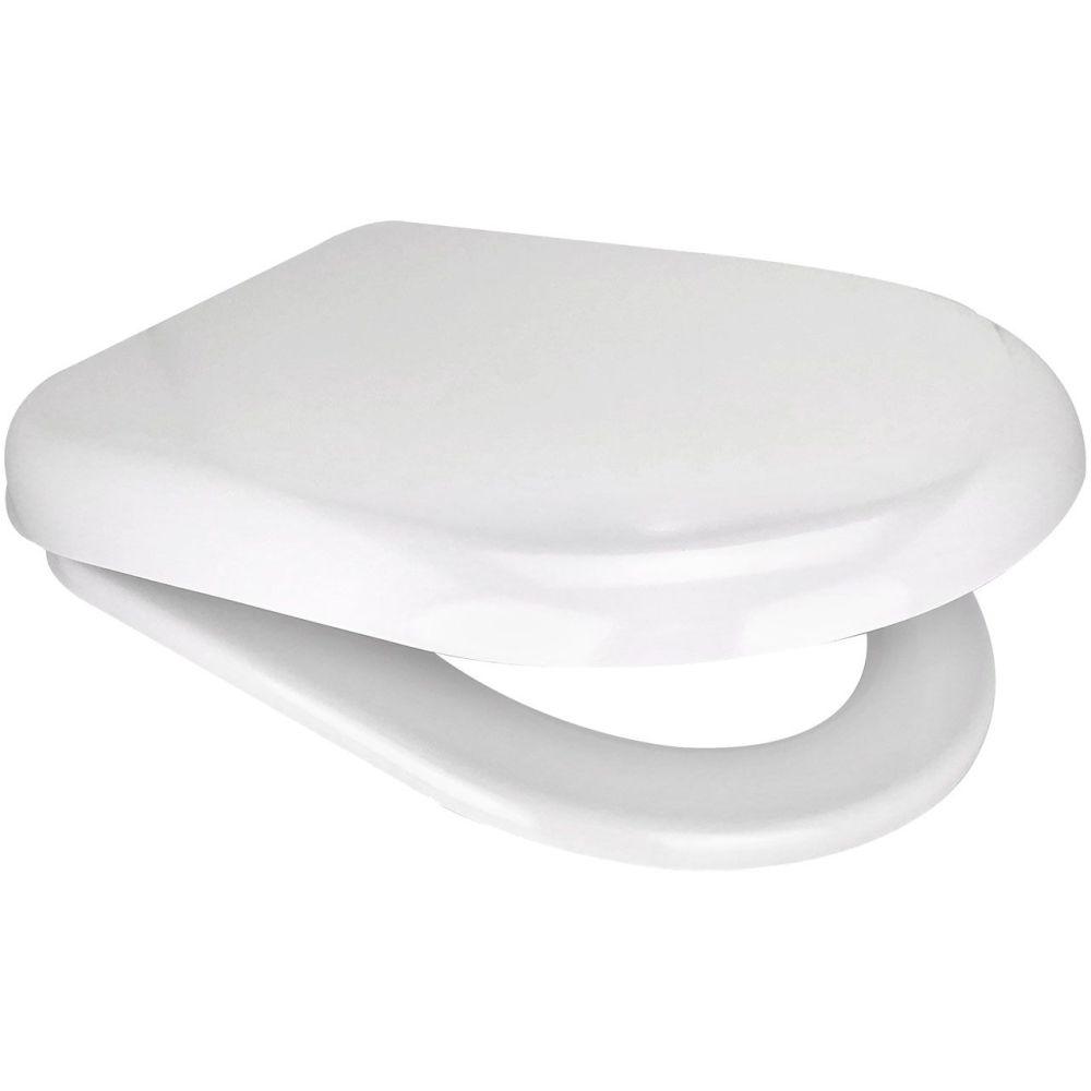 Euroshowers  D One White Toilet Seat - 86511
