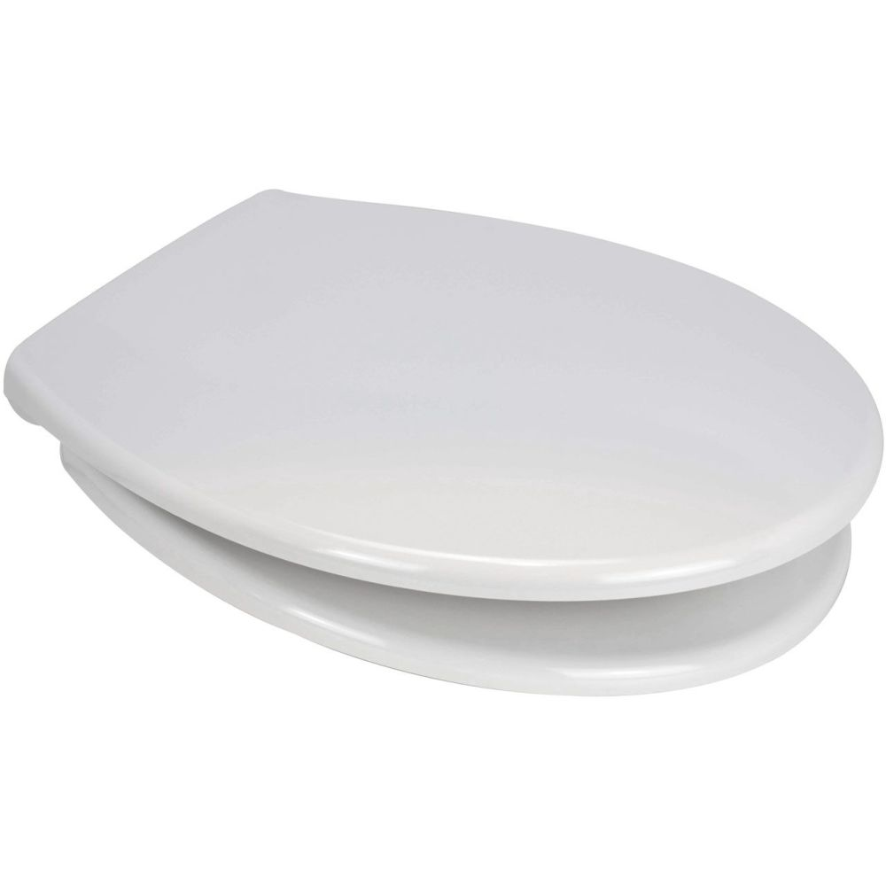 Euroshowers Ettan Toilet Seat in white with Chrome finish Hinge