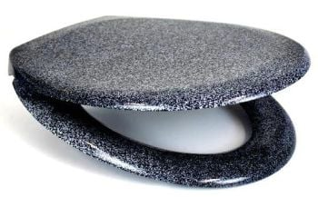 RTS Black Granite Duroplast Soft Close Toilet Seat w/ One Button Release
