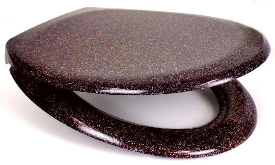 RTS Burgundy Granite Duroplast Soft Close Toilet Seat w/ One Button Release
