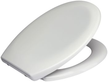 RTS 240 mm Wide Hinge Soft Close Toilet Seat w/ One Button Release