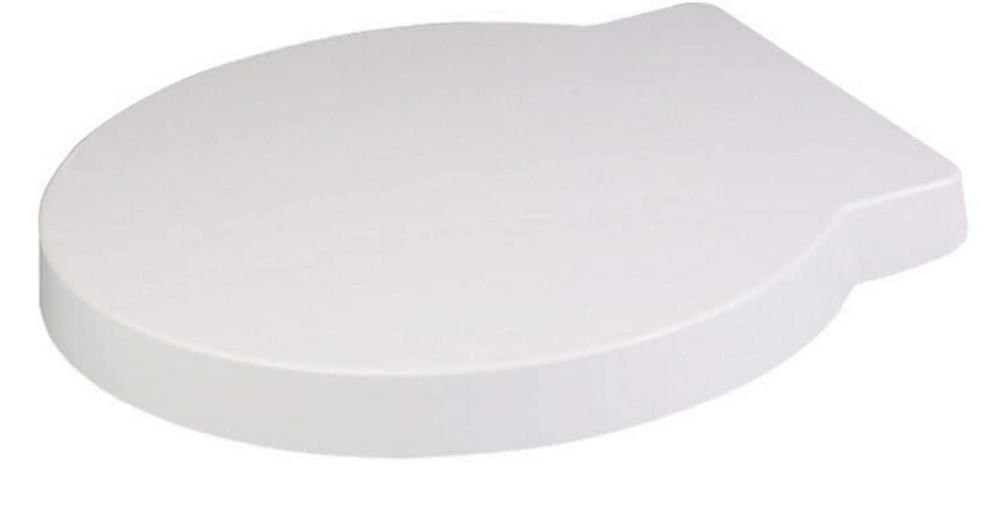 Euroshowers Round 425 Long Duroplast Toilet Seat with Chrome fittings