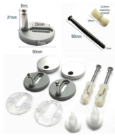 Top / Bottom Fix Blind Hole Back to Wall Toilet Seat Fixings / Fittings / Hinges / 8mm pins