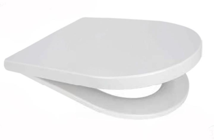 Euroshowers Middle D shaped Toilet Seat in white - OPEN BOX ITEM