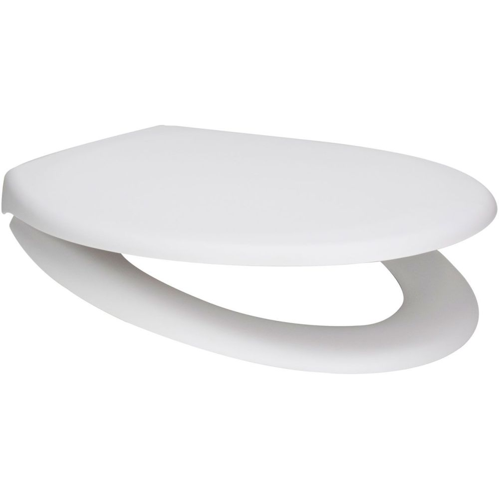 Euroshowers Matt White Slow Close Toilet Seat Quick Release - 84344