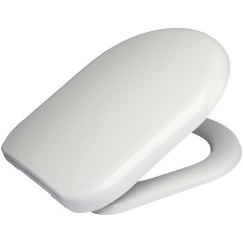 RTS D Shape 230mm Wide Hinge Soft Close Quick Release Toilet Seat - 370 mm seat width