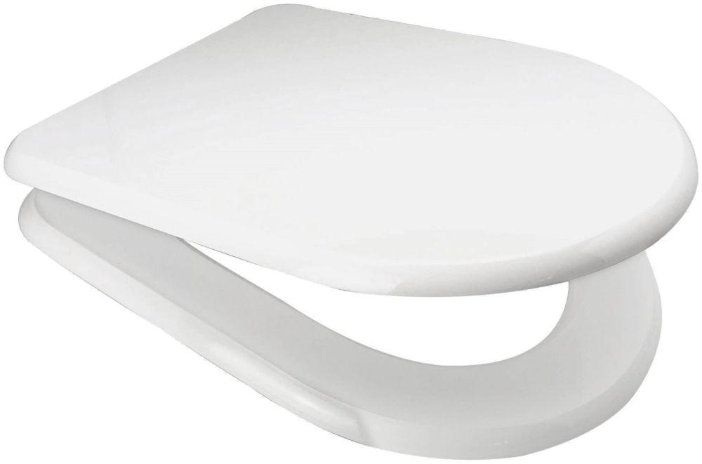 White MDF D SHAPED Soft Close Toilet Seat - OPEN BOX ITEM