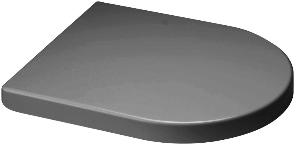 Euroshowers GREY Middle D Style  White Toilet Seat 449mm - 87311