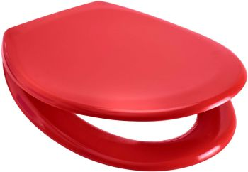 Euroshowers Red One Button Release Slow Close Toilet Seats - OPEN BOX ITEM
