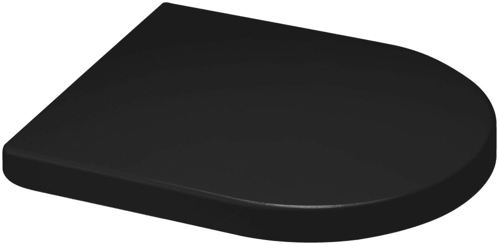 Euroshowers Middle D Style Black Toilet Seat 449mm - 87312
