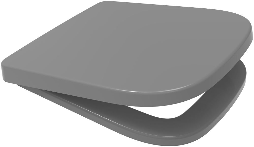 Euroshowers Grey V20 Square Slow Close Toilet Seat - 87372
