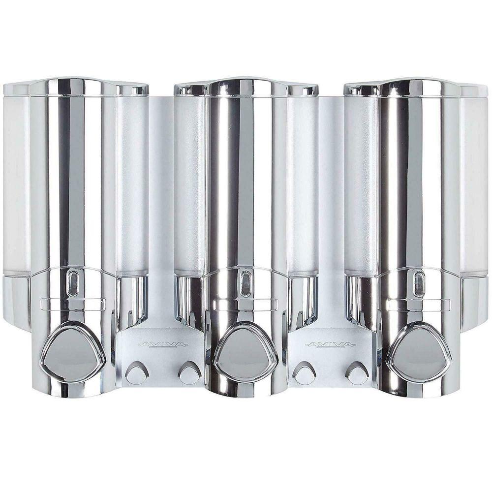 Aviva Triple Chamber Shower Soap Dispenser in Chrome