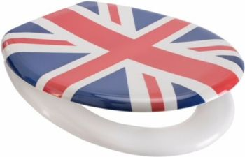 Union Jack One Button Release Slow Close Toilet Seats - OPEN BOX ITEM